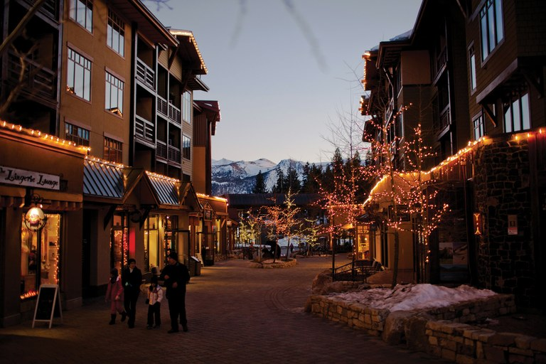 The Village in Mammoth Lakes, California.