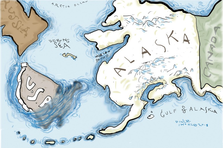 You've seen those maps that show Alaska floating off the coast of the Lower 48? Alaskans have their own version.