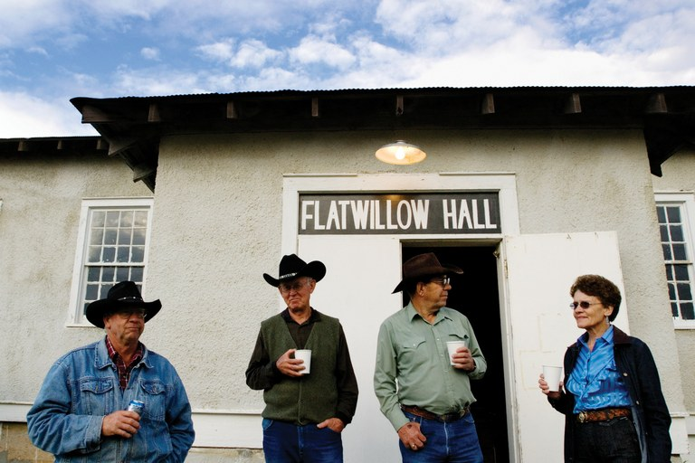 The community of Flatwillow preserved the old hall and began hosting annual community dances like those of the hall's heyday.