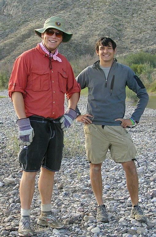Henry Ring (above left) with roommate Alex Brachman on duty at Big Bend National Park.