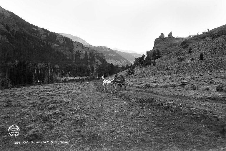 Cody Gateway, near Yellowstone, Wyoming, 1903 .
