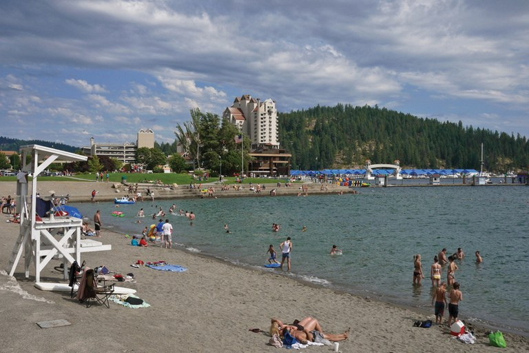 The public beach at Lake Coeur d'Alene.