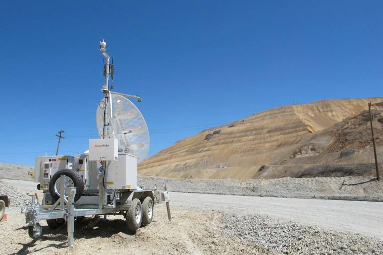 A radar monitoring station that helped see the Bingham Canyon slide coming.