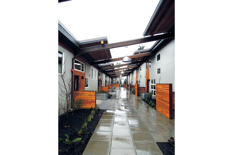 The Puyallup Tribe's Place of Hidden Waters, a LEED Platinum 22-unit affordable-housing project, was modeled after traditional Coast Salish longhouses.