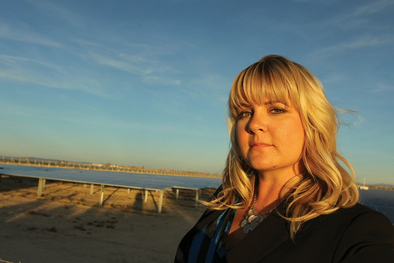 Heather Swan works for the tiny Lancaster Power Authority, which may someday produce enough energy to break free from Southern California Edison.