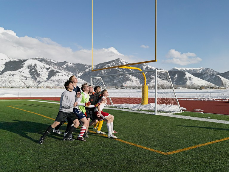Soccer Practice, Star Valley Braves, Afton, Wyoming 2010.