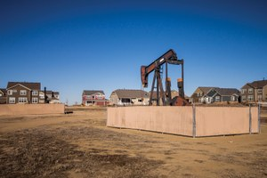 Oil and gas wells hold a place of honor in a Colorado subdivision