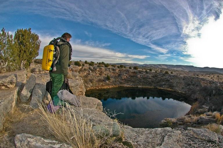 SRC Photographer and Deputy Chief Brett Seymour overlooks Montezuma Well at Montezuma Castle National Monument.