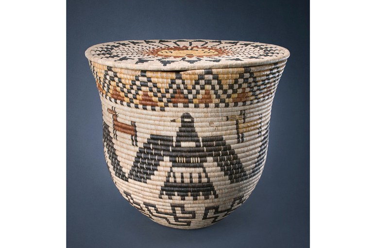 Storage basket, c. 1930, Hopi