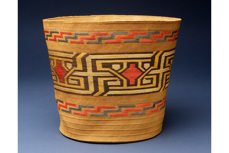Fancy carrying basket, c. 1900, Tlingit, Artist known as Mary.