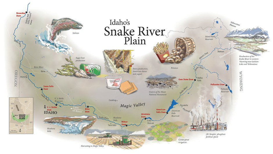 Snake River Map High Country News - Snake river world map