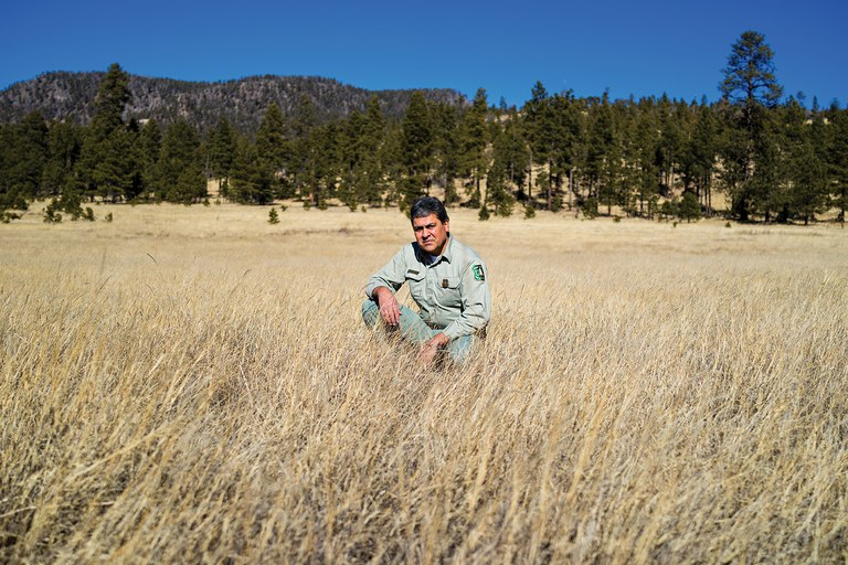 Apache-Sitgreaves National Forest ranger Rick Davalos wants grass banks, rather than outright retirement of grazing leases.