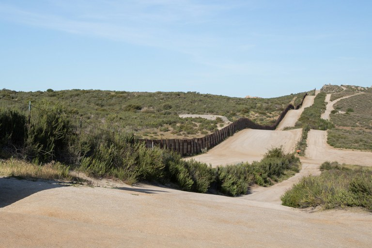 PCT Mile 0: Fence, Border between Mexico and the United States.