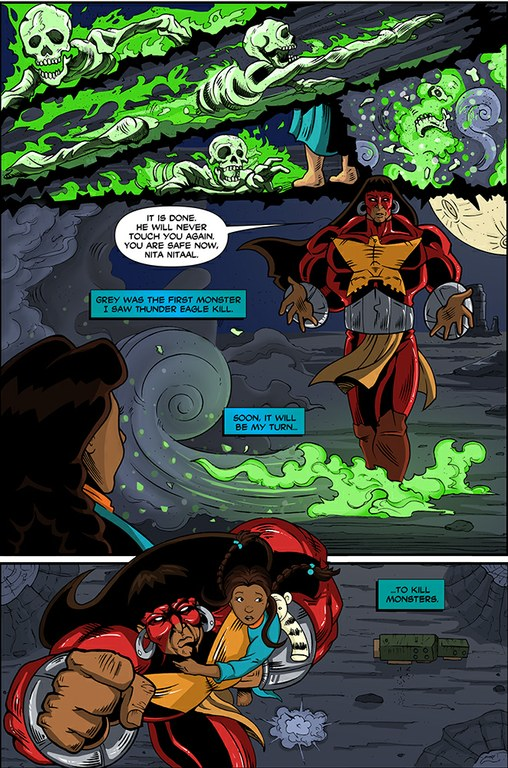 An excerpt from the next issue of Tribal Force, telling the origin story of the goddess Earth, a.k.a. Nita Nitaal.