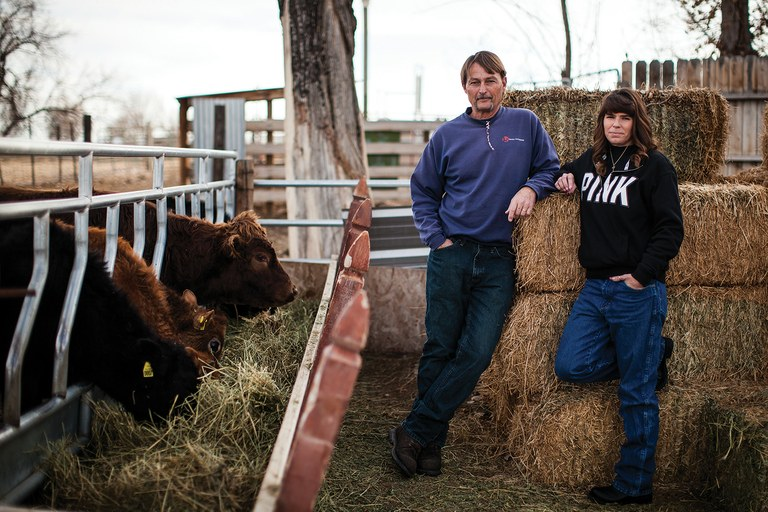 Jeff and Debbie Braccini on their ranch in Fallon. Their son, Jeremy, survived leukemia. Jeff went on to delve into – and poke holes in – the studies surrounding the cancer cluster.