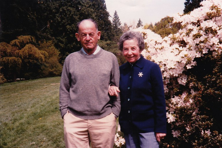 Mimi and Martin Kraus, the Jewish Austrian couple who lived in the author's house for more than 50 years.