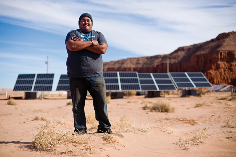 Brett Isaac, CEO of Shonto Energy, builds off-grid solar systems using settlement money from a coal power plant expansion.