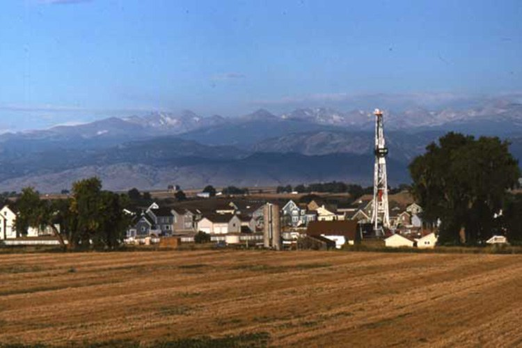 A well in the Wattenberg Gas Field, north of Denver, Colorado, USA.