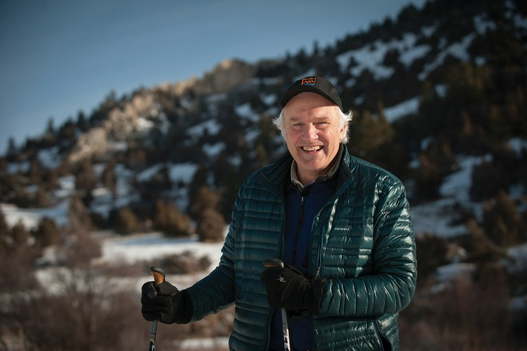"Bill Bryan poses for a photo at the ""M"" trailhead in Bozeman, Montana, where he often goes hiking ... when he's not out trekking exotic locales worldwide."