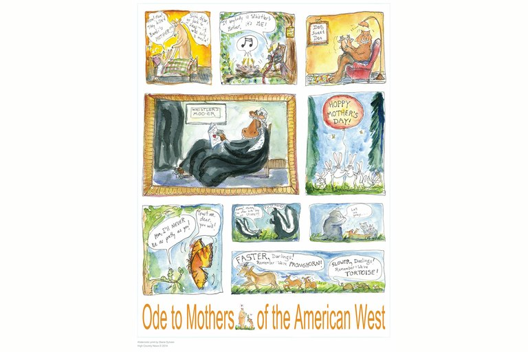 "Give your mother an HCN subscription, and she'll also get an exclusive ""Ode to Motherhood"" poster by longtime HCN illustrator and copy editor Diane Sylvain."