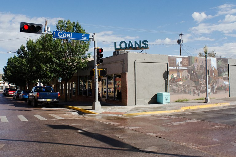 Gallup's downtown, where coffee shops and art galleries have come in among the payday lenders.