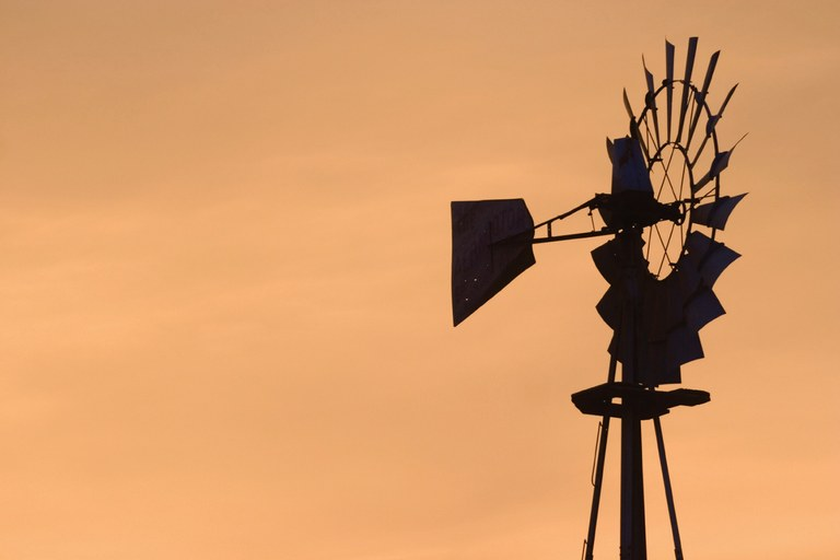 Windmill on a Kansas farm.