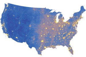 The quietest and noisiest spots in the West