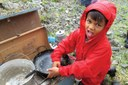 Children in Alaska's wild country