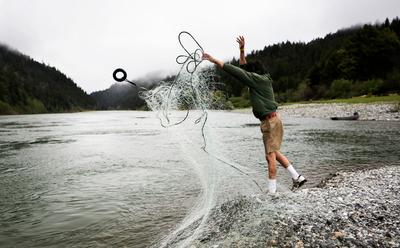 Tribal fishing on the Klamath River