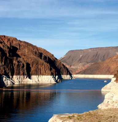 The Latest: Lake Mead hits a record low of 1,078 feet