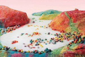 Famous Western landscapes, recreated with processed food