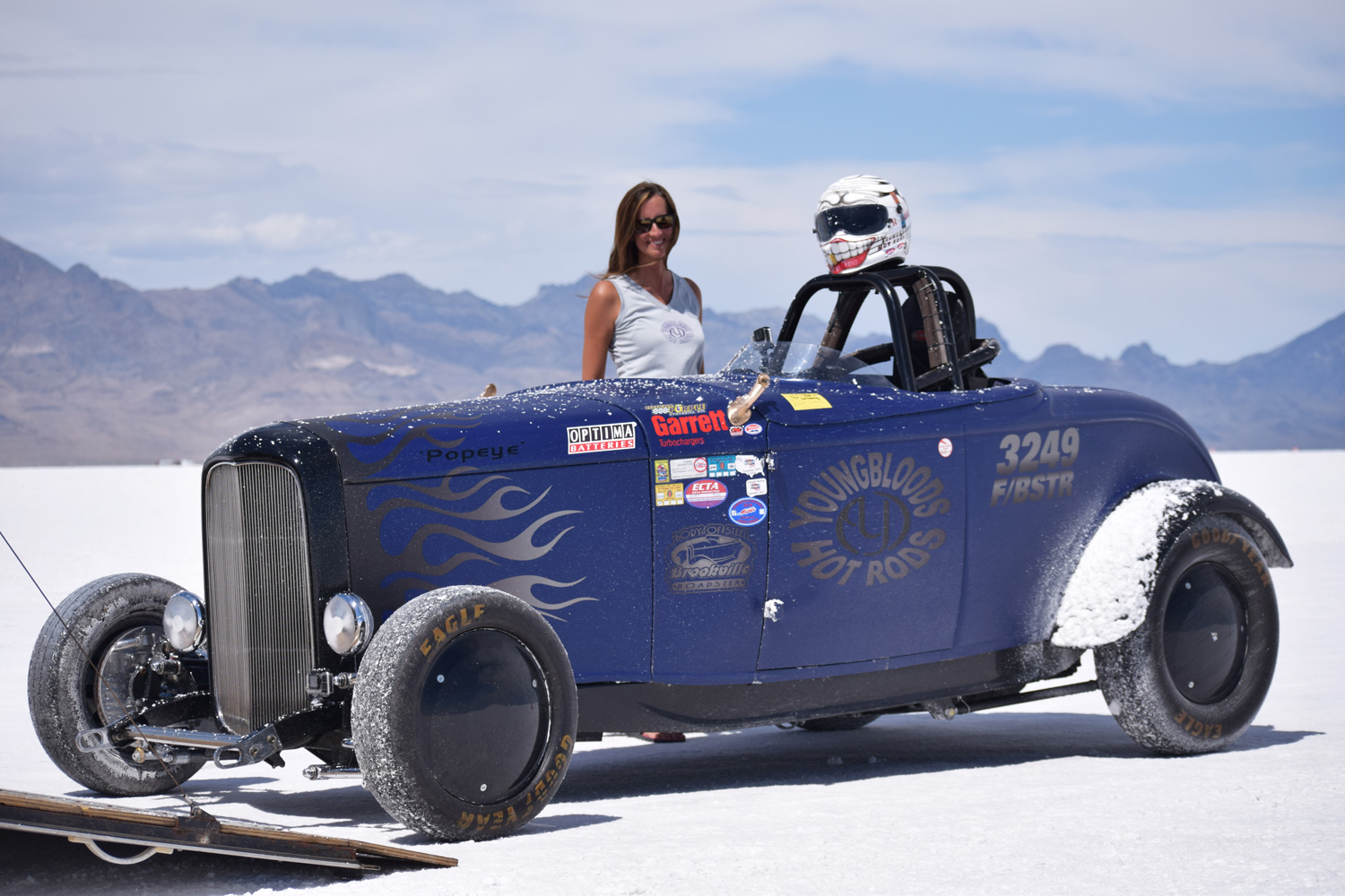 Land Speed Record >> Ali Youngblood with the salt-dusted 1932 Ford Roadster she drove in August at the Bonneville ...