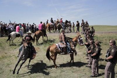 Standing Rock's men at war