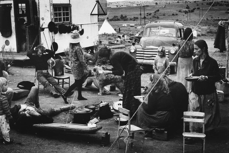 New Buffalo Kitchen Area During Construction Of The Main House In Arroyo Hondo Mexico 1967