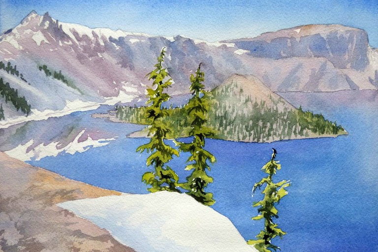 Watercolor habitats: An observation of light and color