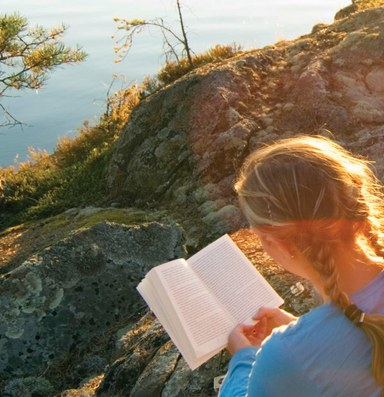 A book in hand deepens the backcountry experience