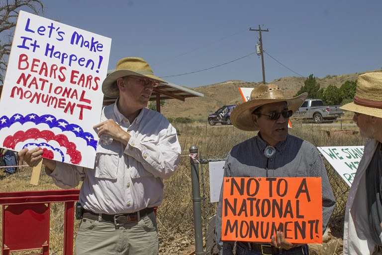 The public has their say on Bears Ears at a Bluff, Utah, listening session in July 2016.
