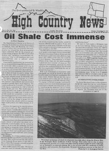 Oil shale cost immense
