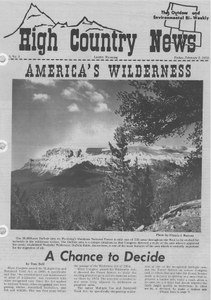 America's wilderness: a chance to decide