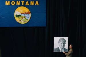 Montanans sightsee at a political circus