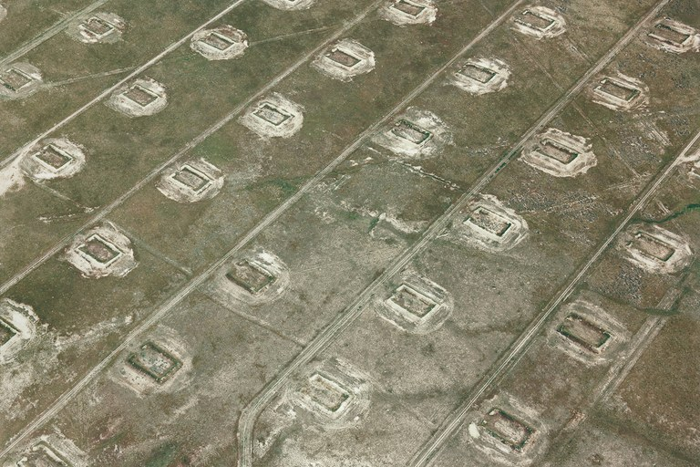 Photos: Above a Western waste land