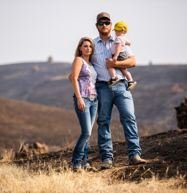 As the West burns, a town fields its own amateur firefighters