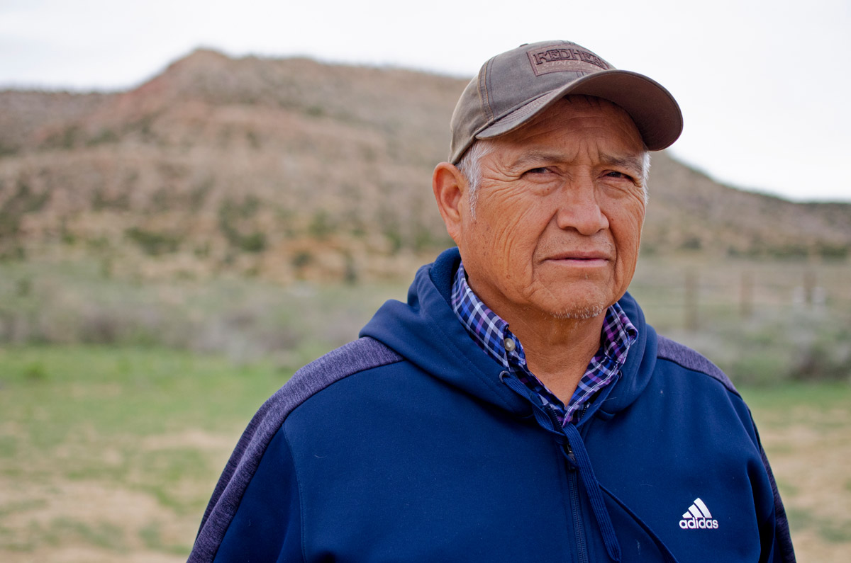 Thompson Bell, a member of the Navajo Nation, spent five years as a mechanic in a uranium mine. Many of his coworkers have since died from cancer, he says. Mark Olalde/Center for Public Integrity