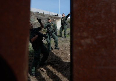 Police-state tactics at the U.S.-Mexico border
