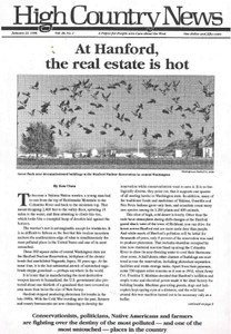 At Hanford, the real estate is hot