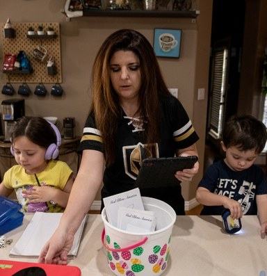 In Las Vegas, the burdens of remote learning rest heavy on working parents