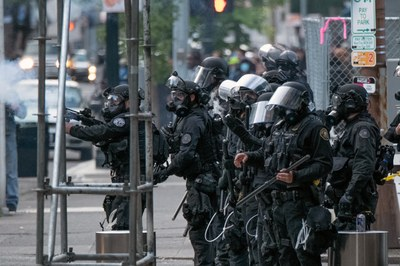 Western police are geared up for war