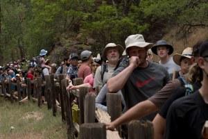 Crowds swarm the public lands