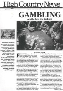 Gambling: A tribe hits the jackpot