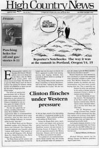 Clinton flinches under western pressure